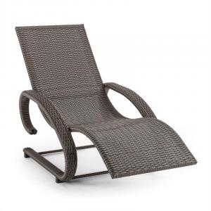 Daybreak Swinging Chair Cantilever Chair Lounger Taupe Aluminum Wicker Anthracite