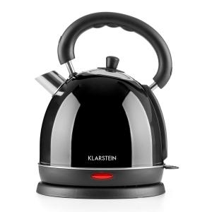 Teatime Electric Kettle Tea Kettle 1850 W 1.8L Stainless Steel Black Black