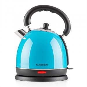Teatime Electric Kettle Tea Kettle 1850 W 1.8L Stainless Steel Blue Blue