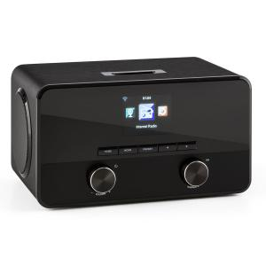 Connect 100 internetradio mediasoitin bluetooth WLAN USB AUX line out musta