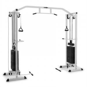 Cablefit kabeltrekstation cable pull rack staal 2 x 170 lb zilver