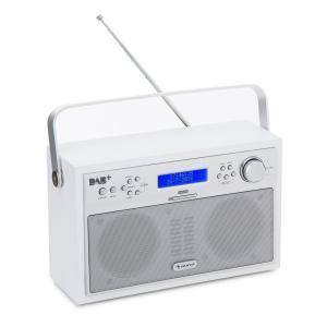 Akkord Digitalradio portabel DAB+/PLL-UKW Radio Alarm LCD weiß Weiß