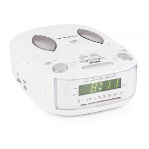 Dreamee SL Radio Alarm with CD Player FM/AM AUX Dual Alarm White White