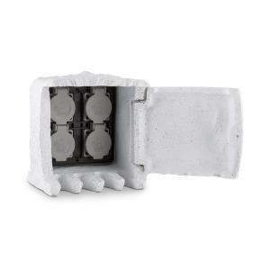 Power Rock 10 Toma de corriente para jardín Distribuidor de 4 compartimentos 10 m Enchufe de piedra Roca