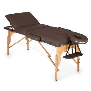 MT 500 Massage Table 210 cm 200 kg Foldable Fine Cell Foam Bag Brown Brown