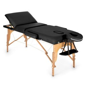 MT 500 Massage Table 210 cm 200 kg Foldable Fine Cell Foam Bag Black Black