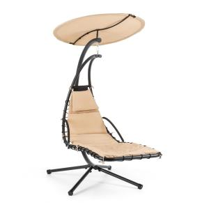 Dahlia Creamy Beige Hangstoel 200 cm Zonnedak Polyester Staal