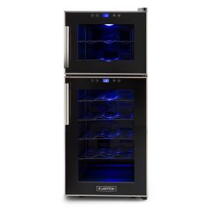 Reserva 21 Wine Refrigerator 2 Zones 56 L 21 Bottles Class D Black
