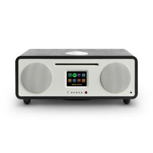 Two – 2.1 Radio internetowe CD 30W Bluetooth Spotify Connect DAB+ czarny Czarny