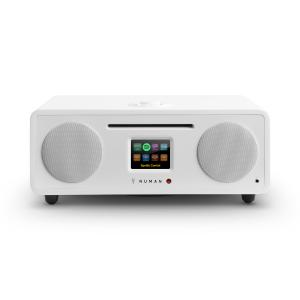 Two - 2.1 Aparelhagem Rádio Internet CD 30W USB Bluetooth Spotify Connect DAB+ Branco Branco