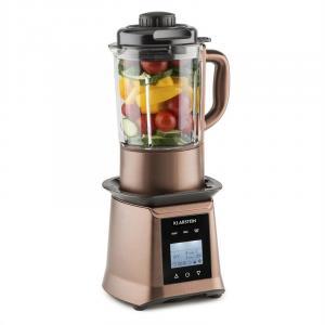 Herakles Heat mikser do zup 1300W/1,7PS 900W 1,75l nie zawiera BPA szkło kolor kawowy Brąz