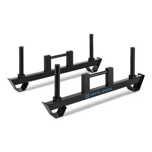 Pawner Farmers Walk Barbell Bars Heavy Duty Bars 2-pc Black
