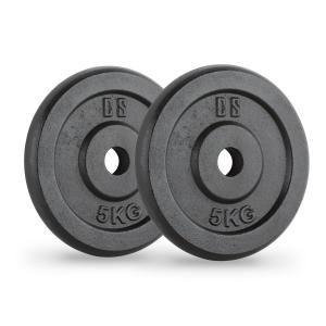 IPB 5 disco mancuerna par 30mm 5 kg negra 2x 5 kg