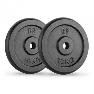 IPB 10 Dischi per Bilanciere Coppia 30 mm 10 kg Nero 2x 10 kg