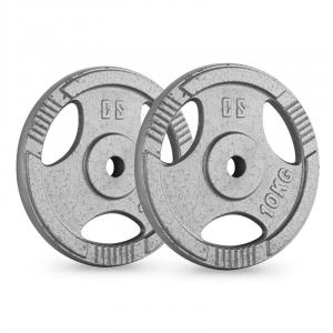 IP3H 10 Weight Plates Pair 30mm 10 kg Chrome Polished 2x 10 kg