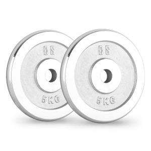 CP 5 Weight Plates Pair 30mm 5 kg Chrome Polished 5 kg
