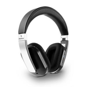 Elegance ANC Bluetooth NFC Headphones Battery-operated Handsfree Noise Dampening Silver