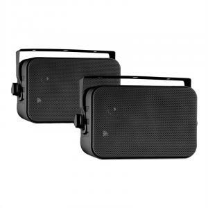 CB105 2-drożny pasywny głośnik maks. 20 W para czarny z pałąkiem montażowym Czarny