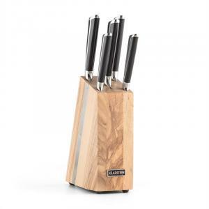 Katana 6 veitsisetti 6-osainen massiivipuu veitsiteline 3Cr13-teräs