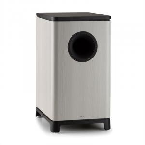 "UniSUB active subwoofer 25 cm (10"") grey oak Grey"