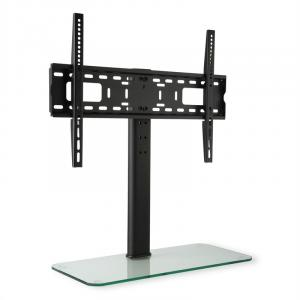 "TV Stand Size L Height 75 cm Height Adjustable 23-55"" GlassBase 23-55 inch glass base"