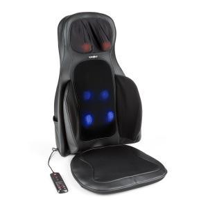Vanuato Siège de massage par vibrations coussin massant Shiatsu 3D noir Noir