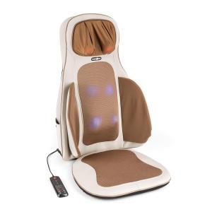 Vanuato Siège de massage par vibrations coussin massant Shiatsu 3D beige Beige