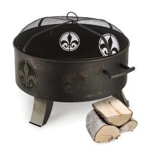 Blumfeldt Versailles Fire Bowl Fire Pit Ø 60 cm Steel Black