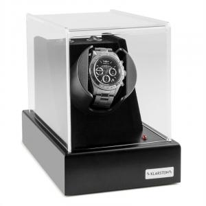 Ermitage Watch Winder 1 o'clock 2 Rotation Modes electricity adapter and battery operated black