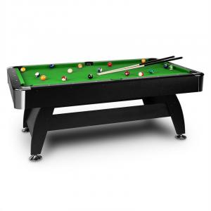 Brighton Black Billiard Table 7' (122 x 82 x 214 cm) Accessory Green