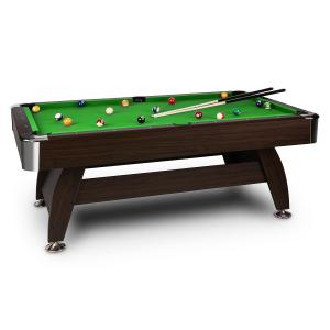 "Leeds Table de billard 8"" (122 x 79 x 244 cm) Queues Boules - vert Vert"