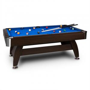 "Leeds Table de billard 8"" (122 x 79 x 244) Queues Boules - bleu Bleu"