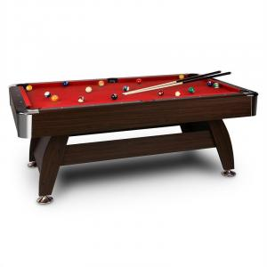 "Leeds Table de billard 8"" (122 x 79 x 244 cm) Queues Boules - rouge Rouge"