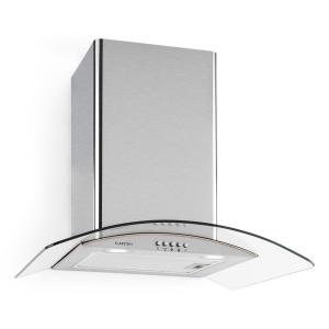 Hotspot Cooker Exhaust Hood Stainless Steel 60 cm 610 m³ / h Class A Glass