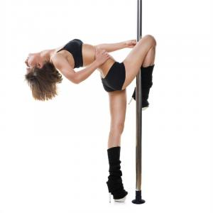 Mandalay Dance Pole Kit Ø 5cm 2,20m-2,60m Stainless Steel chrome