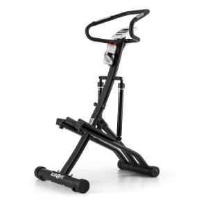 Treppo Power Stepper Hometrainer Capteur de pulsation pliable - noir