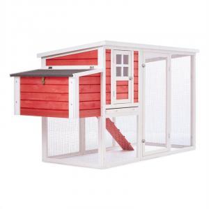 Villa Ronaldo Gallinero Casa de gallinas 2 espacios 76x104x198 cm madera