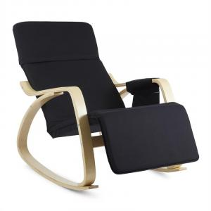 Beutlin Rocking Chair 68x90x97cm (WxHxD) Birch Plywood black Black