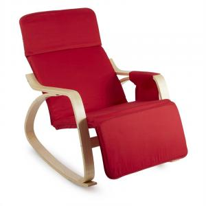 Beutlin Rocking Chair 68x90x97cm (WxHxD) Birch Plywood red Red