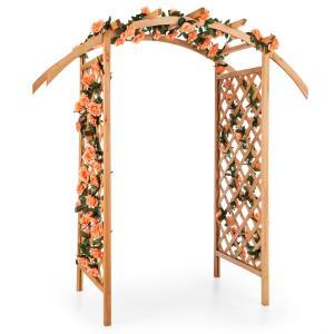 Puerta del Sol pérgola enrejado arco de jardín madera maciza