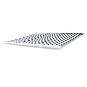Capri-Royale Kassettenmarkise 4x3m 280g/m² Acryl schwarz/weiß