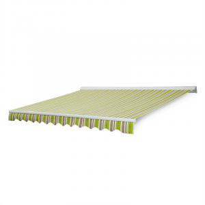 Capri-Mood Kassettenmarkise 4x3m 280g/m² Acryl Limette/Grau
