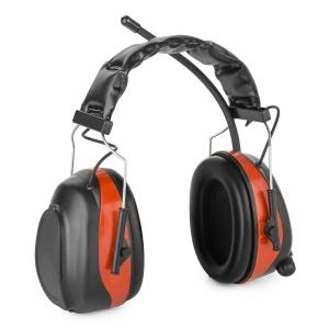Jackhammer 2.0 Noise-cancelling Headphones FM AUX-In Radio SNR 28dB ABS/Steel red Red