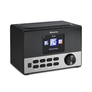 "Connect 90 BK Internet Radio WLAN AUX USB App Control 3.2"" TFT Colour Display Line-out incl. Remote Black"