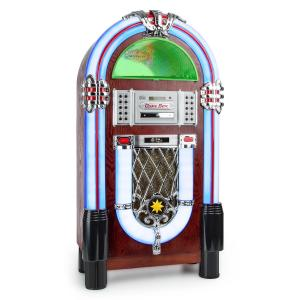 Graceland TT Jukebox/Gramola con Bluetooth, fonógrafo, CD, USB, SD, MP3, AUX y radio FM CD-Player / Bluetooth / Turntable