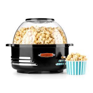 Couchpotato Popcornmaschine elektrischer Popcorn-Bereiter schwarz Schwarz