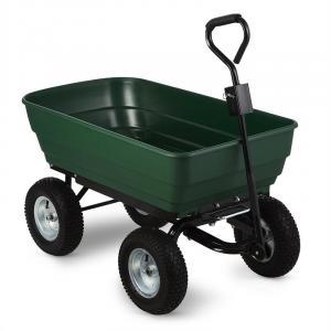 Green Elephant Carrello da Giardino 125 litri 400 kg ribaltabile verde verde
