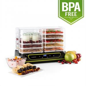 Yoyoyofruit 2-in-1 Dehydrator & Yogurt Maker 2x5 Tiers 550 W Black