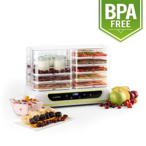 Yoyoyofruit 2-in-1 Dehydrator & Yogurt Maker 2x5 Tiers 550 W white White
