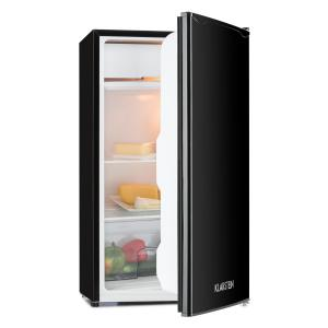 Single supply refrigerator 90l class A + 2 levels icebox black Black